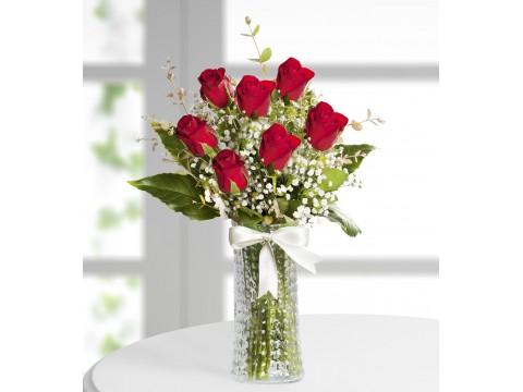 Kırmızı Gül Çiçek Aranjmanı